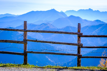 view from the goldeck mountain in austria
