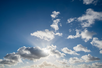 Canvas Prints cloudscape with blue sky and sun for backgrounds