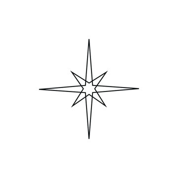 vector compass symbol icon formed with simple shapes