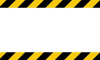 Black and yellow line striped background. Caution tape