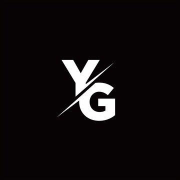 YG Logo Letter Monogram Slash with Modern logo designs template