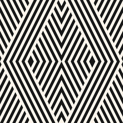 Vector geometric lines seamless pattern. Black and white texture with stripes