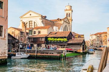 Foto op Canvas Gondolas A view of boatyard on Squero di San Trovaso, Venice, Italy