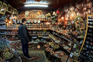 The abundance of oriental jewelry at the bazaar in Sarajevo