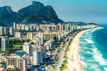 Photo sur Plexiglas Rio de Janeiro Aerial view of Barra da Tijuca Beach, Rio de Janeiro, Brazil