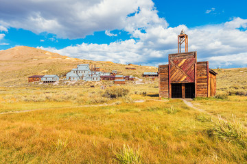Firehouse in the Ghost town of Bodie California USA