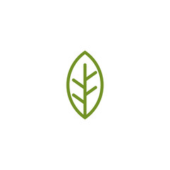 Leaf icon logo design vector template