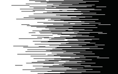 Speed horizontal lines Gradient seamless pattern Vector pixel texture Fast effect design Black elements on white background