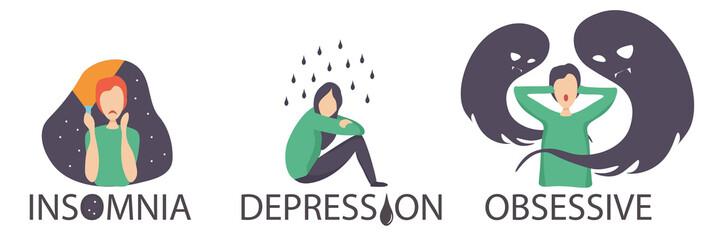 emotions stress illustration