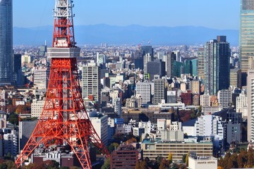 TOKYO, JAPAN - DECEMBER 2, 2016: City architecture view of Tokyo. Tokyo is the capital city of Japan. 37.8 million people live in its metro area.