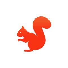 Squirrel sitting icon. Vector illustration.