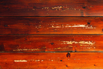 Wall Mural - Brown planks texture