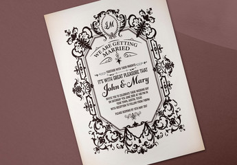 Baroque Wedding Invitation Layout