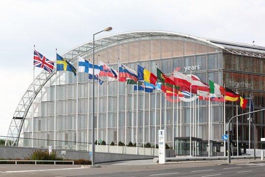 Kirchberg, Luxembourg - July 21, 2018: European investment bank building in Luxembourg.The European investment bank is the European Union's nonprofit long-term lending institution established in 1958