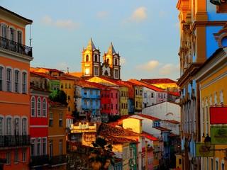 Foto auf Leinwand Altes Gebaude Amérique du Sud, Brésil, État de Bahia, Salvador, centre historique Pelourinho