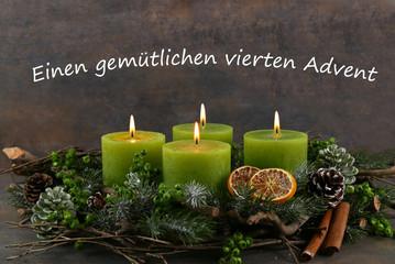 Fototapeta Vierter Advent obraz