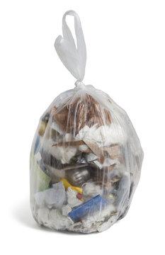 Mülltüte Abfall Müll Plastik Restmüll in Plastiktüte