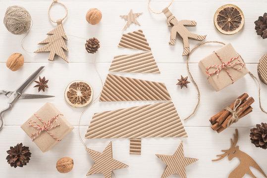 Christmas decoration on white background