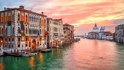 Sunrise on Canal Grande in Venice, Italy