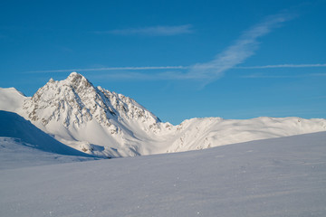 Fototapete - Bergwelt im Winter