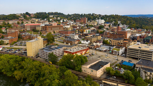 Late Afternoon Sunshine Hits Buildings and Architecture in Morgantown WV