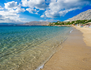 Fototapete - Pefkos Beach or Pefki Rhodes Greece