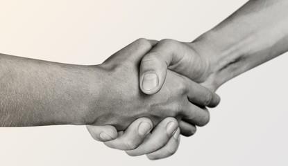 Business Agreement Handshake on white background