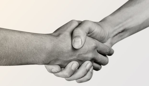 Business Agreement Handshake on white background