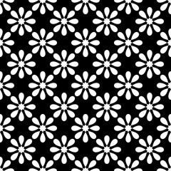 Tile black and white vector pattern for seamless decoration wallpaper for backgrounds, blogs, www, scrapbooks, party or baby shower invitations and elegant wedding cards.