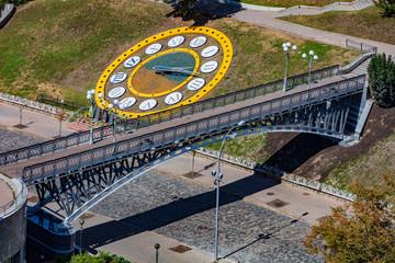 Wall Murals Kiev Nebesna Sotnya memorial monument in maidan square Landmark of Kiev Ukraine Europe