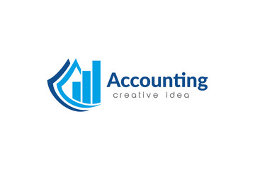 Creative Accounting Logo Design Template