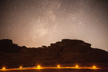 Sky during the night in the desert
