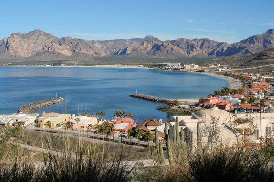 The town of  San Carlos on the Sea of Cortez, Mexico