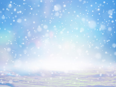 雪が降っているイメージのアブストラクト背景