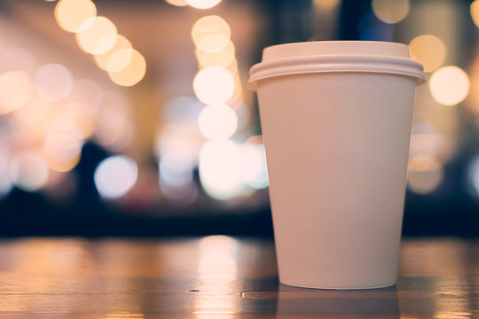 take away coffee cup empty blank copy space for your design text or banner of brand