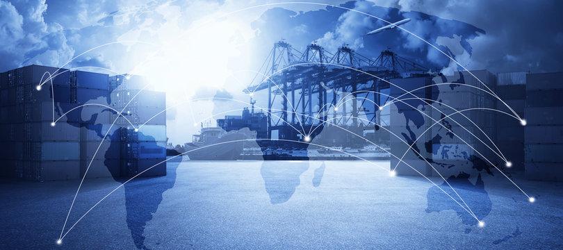 Transportation trading business concept .