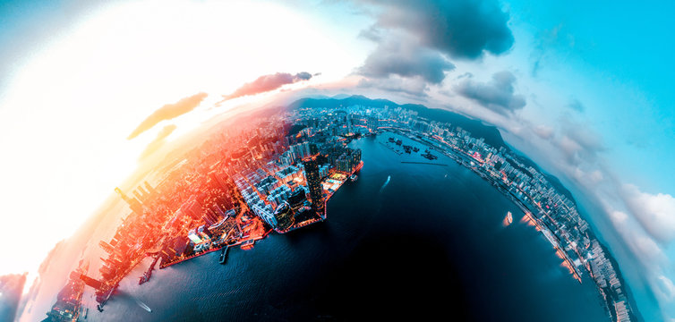 Hong Kong Cityscape view from high angle