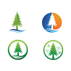 Christmas tree vector and symbol