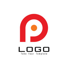 letter p logo design and template
