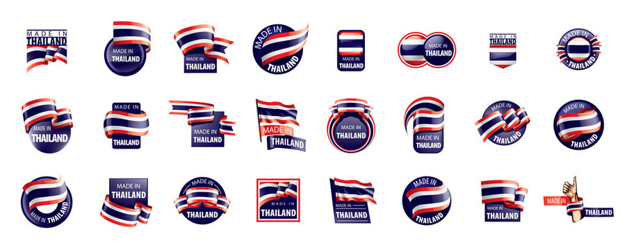 Thailand flag, vector illustration on a white background
