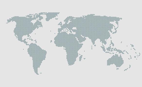 World map vector template, worldwide info graphic