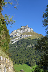 Mountain landscape of Engelberg in the Swiss alps