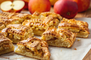Homemade braided apple pie.