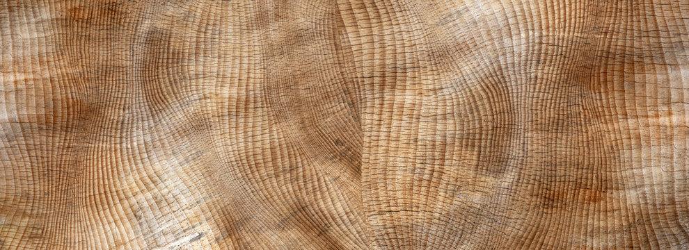 Abstrakte, verwitterte, rissige braune Holzstruktur - Panorama Nahaufnahme