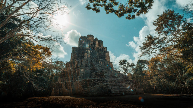Muyil maya ruin in the Sian Ka'an national park, Yucatan, Mexico