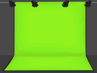 Green Screen  Background Illustration