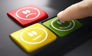 relation client Direct Measure Of Customer Service Satisfaction. Push Button Survey