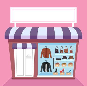 Leather Items Shop Illustration