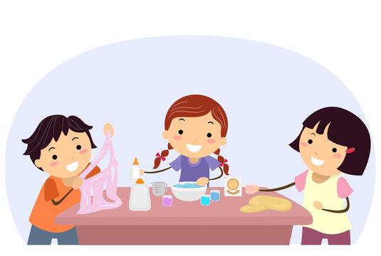 Stickman Kids Make Slime Educational Toy Activity