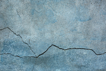 blue cracked wall background